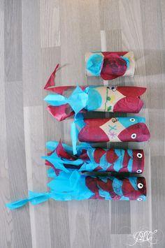Prendre le temps - Voyageons Ludique - Asie - Poisson Koinobori en papier de soie et rouleau de papier toilette - Japon - 06