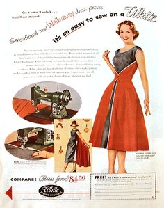 would love to make and wear 50's style clothes! Love them!