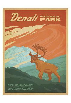 "Montana Glacier National Park Horse Trail USA US 16/""X20/"" Vintage Poster FREE S//H"