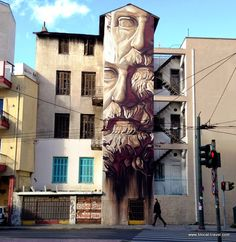 INO, Metaxourgeio, Street art Athens Greece Read my street art guide of Athens here: As seen on the streets of Athens: http://www.blocal-travel.com/2015/01/as-seen-on-streets-of-athens-street-art.html