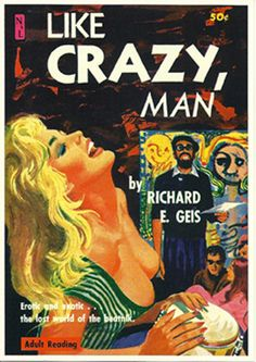pulp art print Like Crazy Man   vintage pulp by PulptasticPrints