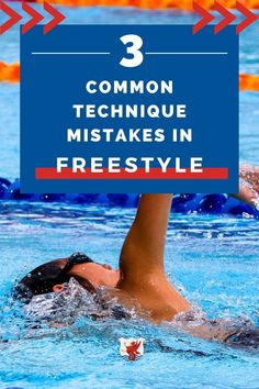 Are you trying to improve your freestyle technique? Freestyle isn't a hard stroke to learn, but making these three mistakes can slow you down in the water. Improve your freestyle technique and speed by avoiding these mistakes! Breaststroke Swimming, Swimming Drills, Swimming Gear, Baby Swimming, Swimming Workouts For Beginners, How To Swim Faster, Teach Kids To Swim, Baby Swim Float, Freestyle Swimming
