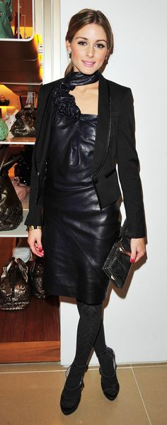 leather dress of Olivia Palermo
