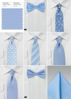 Serenity was named Color of The Year by Pantone making it the IT color for upcoming weddings. Be inspired by this handsomely calm color with our Wedding Inspiration Board. Find the perfect groomsmen accessories in Serenity Blue. Blue Groomsmen, Groom And Groomsmen Attire, Periwinkle Wedding, Wedding Colors, Wedding Blue, Nautical Wedding, Wedding Suits, Trendy Wedding, Wedding Men
