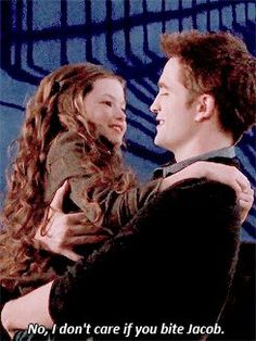 Twilight~Breaking Dawn I don't care if you bite Jacob. Twilight Edward, Edward Bella, Twilight Film, Twilight Jokes, Twilight Saga Quotes, Twilight Renesmee, Twilight Saga Series, Twilight Breaking Dawn, Twilight Cast