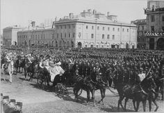 """Tsar Nicholas ll of Russia with the Empress Alexandra Feodorovna of Russia visiting Moscow,Russia in 1903. """"AL"""""""
