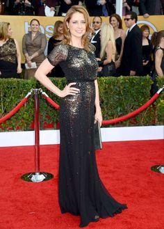 SAG Awards 2013: Red Carpet Dresses: Jenna Fischer