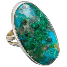 Large Shattuckite 925 Sterling Silver Ring Size 6.75 RING779658