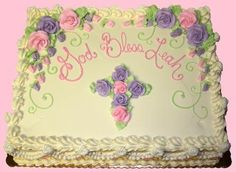 Lovin Oven Cakery - Gallery - First Communion Baptism Sheet Cake, Baptism Cakes, Sheet Cake Designs, Baby Girl Baptism, Baby Boy, First Communion Cakes, Confirmation Cakes, Floral Cake, Girl Cakes
