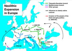 Neolithic expansion in Europe 6300-4000 BCE