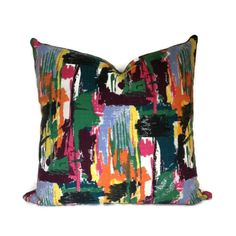 "#Vintage David Whitehead Multi Coloured Cushion Cover 20"" #Handmade by Retro68, £30.00"