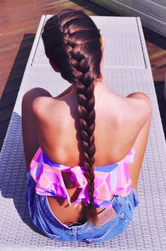 Long hair don't care. Braid is really pretty