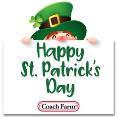 Happy St. Patrick's Day from all of us at Coach Farm!🎉☘️