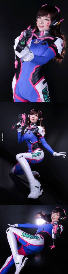 Overwatch D.VA by Miyuko - COSPLAY IS BAEEE!!! Tap the pin now to grab yourself some BAE Cosplay leggings and shirts! From super hero fitness leggings, super hero fitness shirts, and so much more that wil make you say YASSS!!!