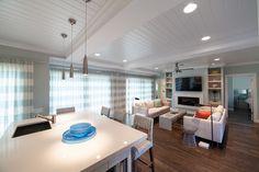 FLAT SCREEN TV WALL -   CONSIDER FOR FAMILY ROOM WALL Contemporary Longboat Key Residence 1