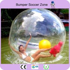 The Best Free Air Ship To Door Inflatable Bouncers Outdoor Fun & Sports Clear Inflatable Water Walking Ball Zorb Ball Big Inflatable Human Walking Balloon With Profession Zipper