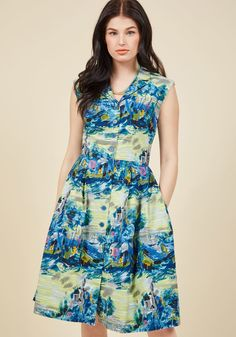 82d3a149f43 Emily and Fin Bake Shop Browsing Midi Dress in Landscape