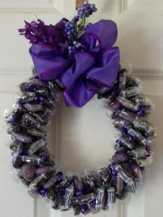 Candy wreath by Sarah
