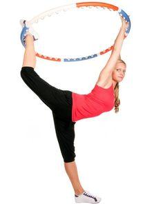 holding hula hoop