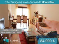 Apartamento T3 recente próximo das praias, junto às Termas de Monte Real. Para Venda / Permuta.  #apartamento #montereal #leiria #t3 #novilei #imoveis #imobiliaria #venda #permuta