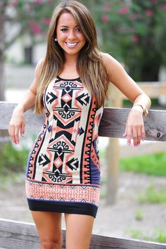 Point Me Your Way Dress: Multi