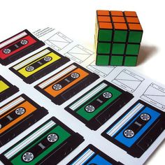 Mix Tape Printable PDF Tags  With your choice of up by RisaRocksIt, $5.00