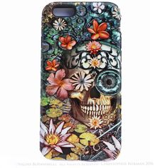 iPhone 6 6s Floral Skull Case - Bali Botaniskull - Day of the Dead - Artistic Tough Case For iPhone 6s - Da Vinci Case - Artistic Cases for iPhone - 1