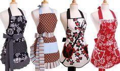 ¿Quién dice que los delantales no son fashion? Estos son la prueba de sí pueden serlo.