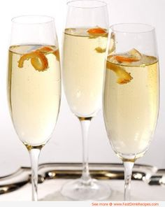 Delicious Alcoholic Drink Recipes | Try this simple champagne cocktail for a delicious drink perfect for ...