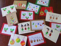 Christmas Cards Using Fingerprints