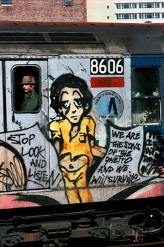 Old subway art/graffiti New York Subway, Nyc Subway, Subway Art, New York Graffiti, Street Art Graffiti, Graffiti History, Hip Hop, Urbane Kunst, Train Art