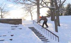#snowskating #hugerail