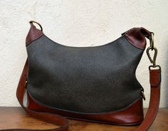 Authentic MULBERRY satchel BAG vtg VINTAGE real leather trim CROSS BODY  shoulder d6a994a82e7d4
