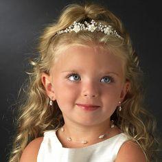 flower girl headpieces pearl flower girl tiara flowergirl child headband first communion