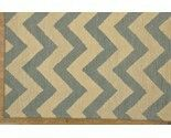 Hand made Chevron design wool pile area rug.
