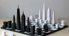 Featured Image for A chess set with pieces that look like New York City architecture