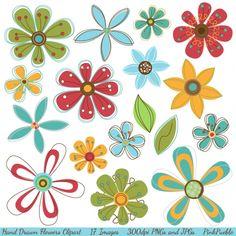 Hand Drawn Flower Clip Art - Luvly Marketplace | Premium Design Resources #flower #clipart