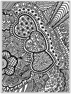 Advanced Adult Valentines Day Hearts Coloring Pages Printable And Book To Print For Free Find More Online Kids Adults Of