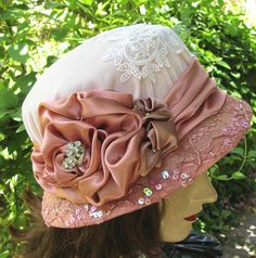 Spring or Summer Cloche Hat by Vintage Style Hats by Gail, Beautiful
