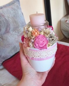 #decor #pink #spring #flower #diy #homemade