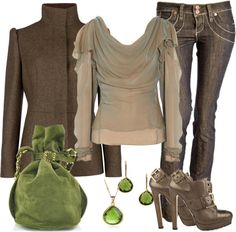 """""""Green with Envy"""" by debbie-probst on Polyvore"""