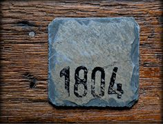 These Reclaimed Slate Coasters once adorned an Ohio TRADING POST built in 1804 as an Architectural Slate Roofing Shingle. (Zanes Trace Trading Post )  Cork bottom tabs for protection
