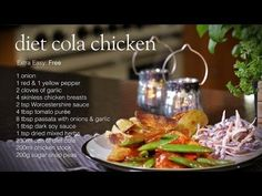 Diet coke chicken is one of the most popular Slimming World recipes and this short video takes you step by step through the process of creating diet cola Slimming World Tips, Slimming World Dinners, Slimming World Recipes Syn Free, Healthy Recipes, Diet Recipes, Uk Recipes, Healthy Options, Diet Coke Chicken Slimming World, Get Thin