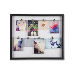 Whether you're hanging around the house or stuck in your office, this photo display hangs tight. Feel at ease with pictures of friends, family, and other positive mementos attached to its eight clips.  Find the Hanging Around Photo Holder, as seen in the The Pioneer of Modern Art Collection at http://dotandbo.com/collections/the-pioneer-of-modern-art?utm_source=pinterest&utm_medium=organic&db_sku=UMB0162