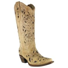 MY NEW BOOTS Corral Women's Inlay Snip Toe Western Boots