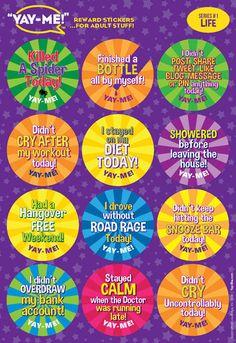 Yay Me Adult Reward Stickers Life Reward Stickers Power Trip