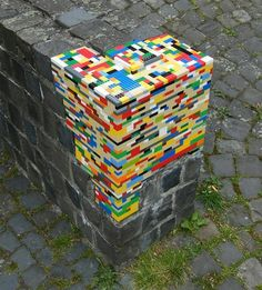Using legos to repair missing brick, so cool!