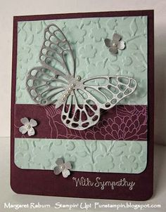 Fun Stampin' with Margaret!  CCMC356 Color Challenge:  Blackberry Bliss, Soft Sky, Silver or Smoky Slate.