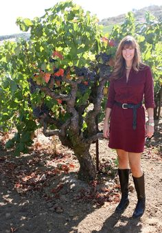 """Fall is finally upon us and that has Jill of Everything Just So and me thinking of autumn colors, so for this month's """"How I Wear My"""" post we decided to focus on two of them, Burgundy and Bordeaux. Both seem poised to be big hits this season. I decided to take photos of my burgundy look in a vineyard since this time of year the leaves are starting to turn shades of red, orange…"""
