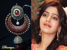 Kundan Earrings-Jewellery-Dhaanya